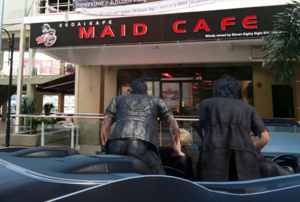 final fantasy xv maid cafe