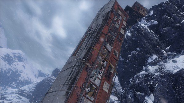 uncharted-2-train-wreck-hanging-snow-mountain