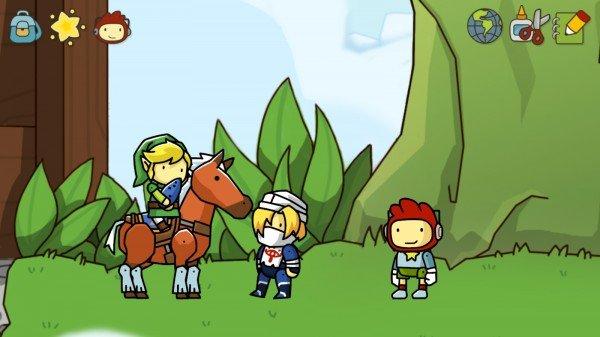 link-scribblenauts-Zelda Crossovers