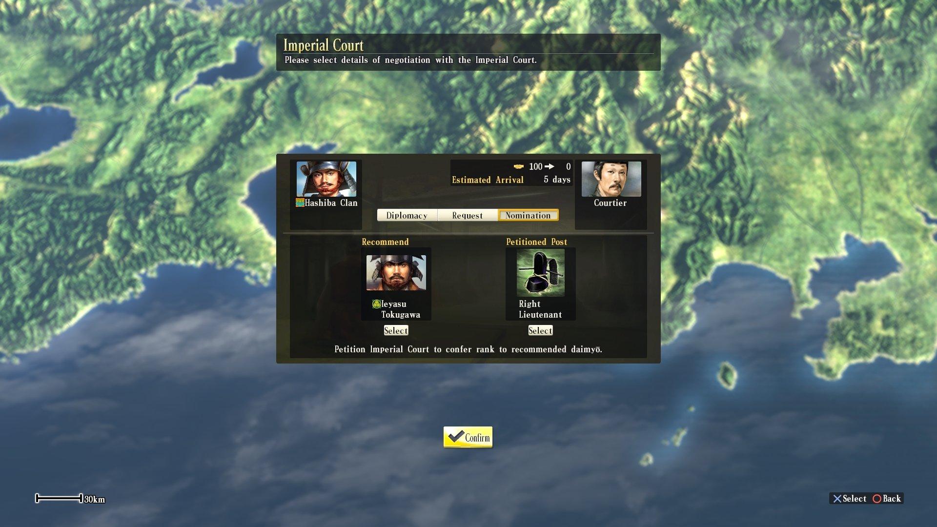 13 - Imperial court2 Nobunaga's Ambition Diplomacy