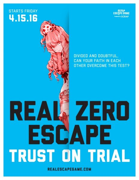 Real Zero Escape Trust on Trail Coming to Los Angeles - Poster