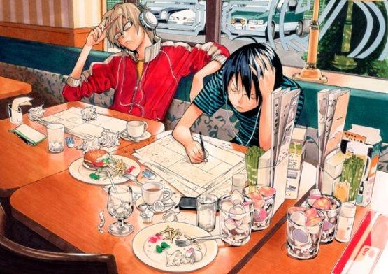 Shonen Jump are Searching for a Mystery Man Bakuman-resturant_scene