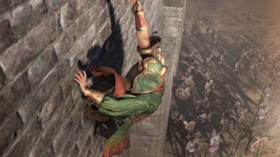 Dynasty Warriors 9 Announced for the West battle3_infiltrate by climbing wall with grappling hook