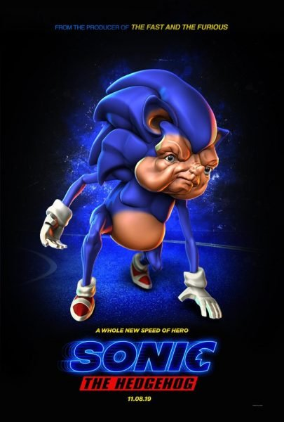 sonic movie poster what the fu