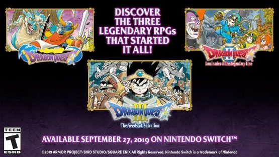 Dragon Quest Switch Ports of I, II, and III Coming West