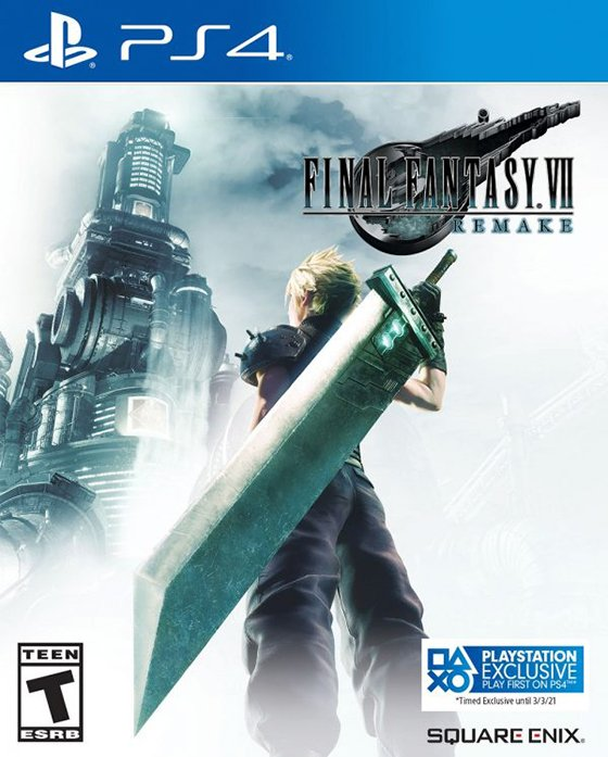 Final Fantasy VII Remake Cover Art