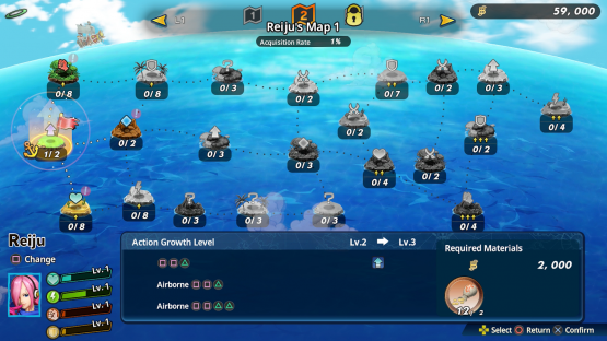 one piece pirate warriors 4 growth map