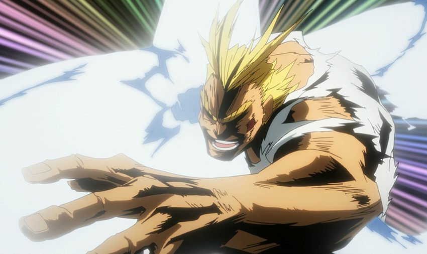 All Might Anime Punches