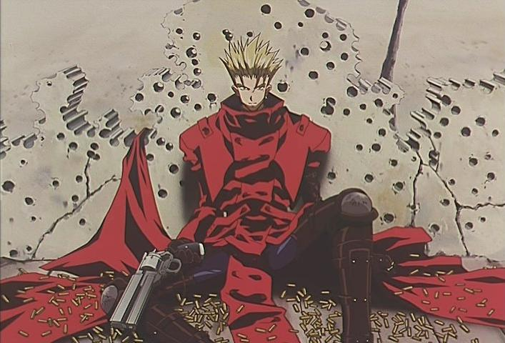 Vash the Stampede with gunholes around him