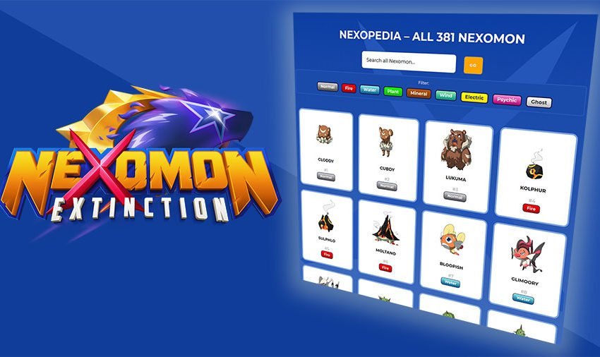 Nexomon Nexopedia
