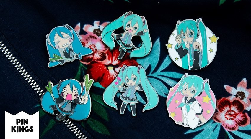 New Pin Kings line of pin badges includes Hatsune Miku, Resident Evil