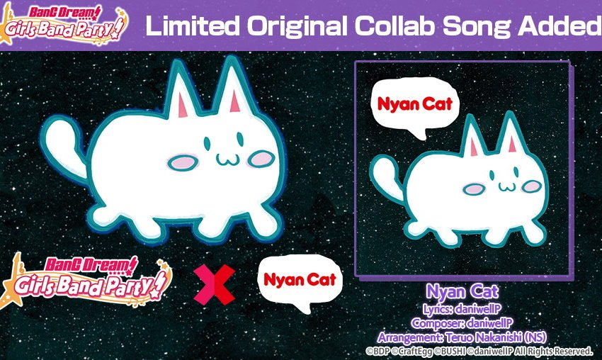 BanG Dream!'s next collab is with… Nyan Cat?!