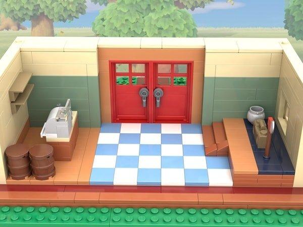 Tom Nook Lego interior
