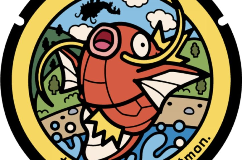 Magikarp manhole covers installed in central Japan to celebrate koi culture