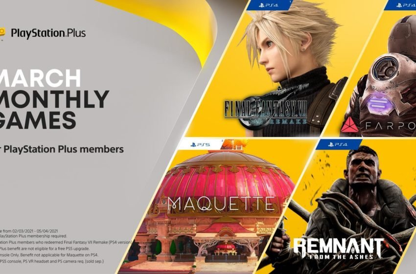 Final Fantasy VII Remake PS Plus March