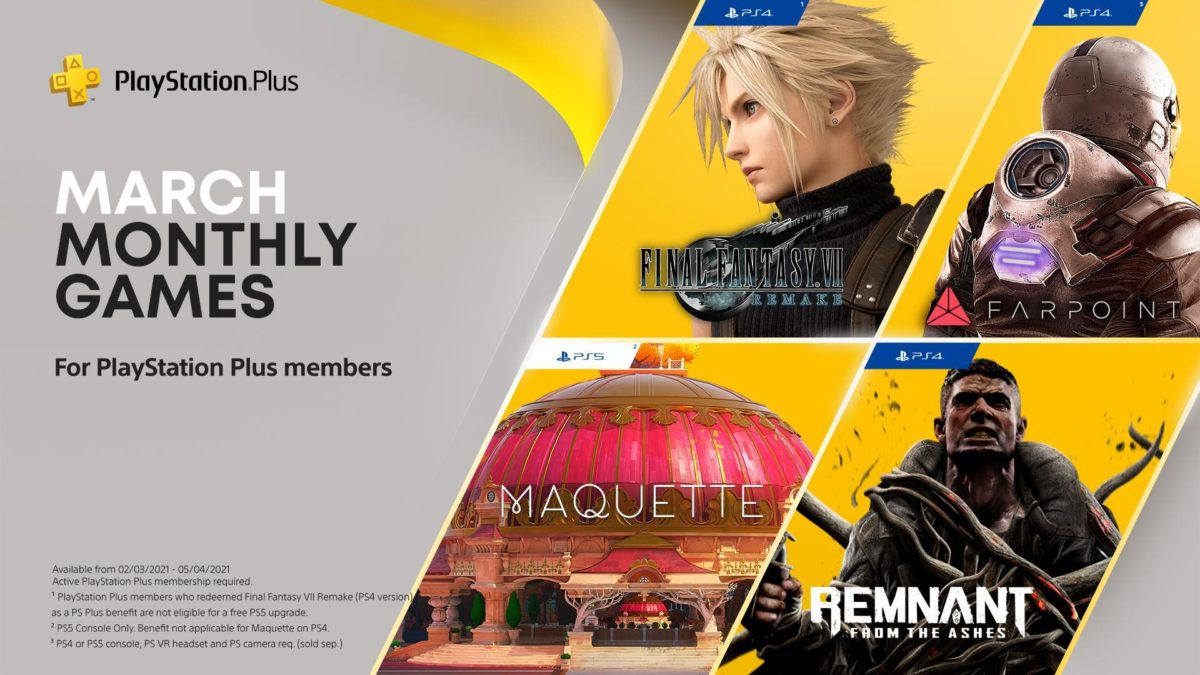 March PlayStation Plus includes Final Fantasy VII Remake, but there's a catch