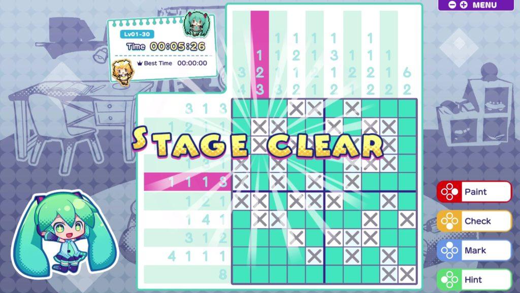 Puzzle game Hatsune Miku Logic Paint S