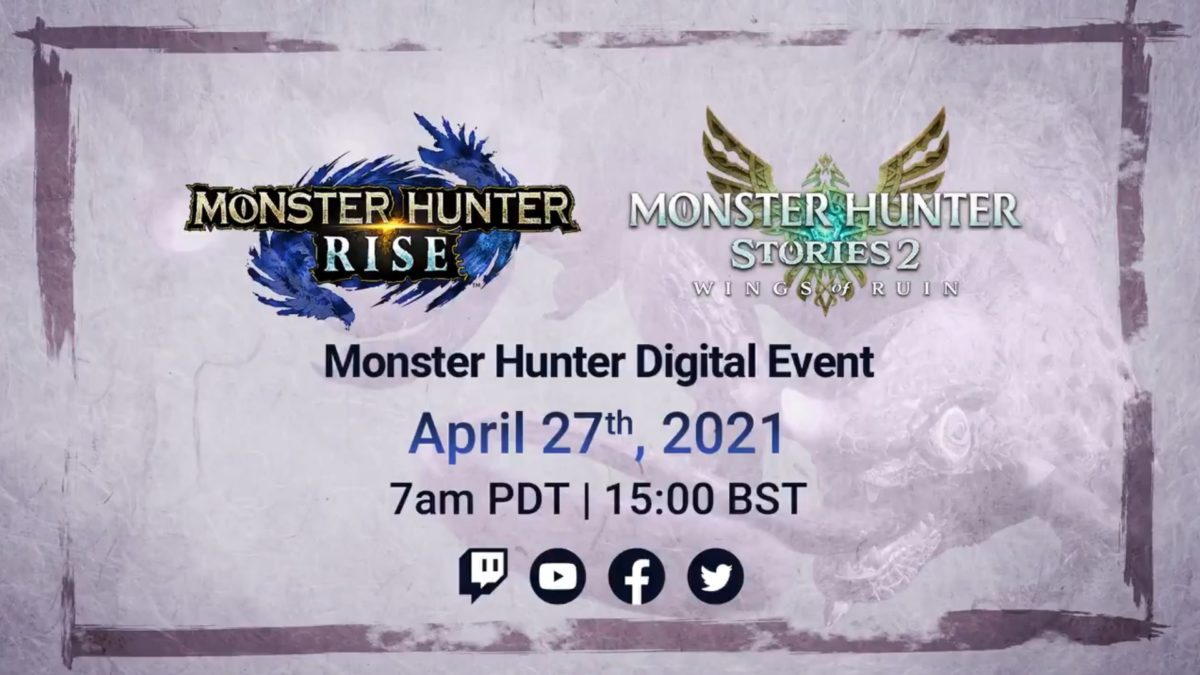 Next Monster Hunter digital event set for April 27