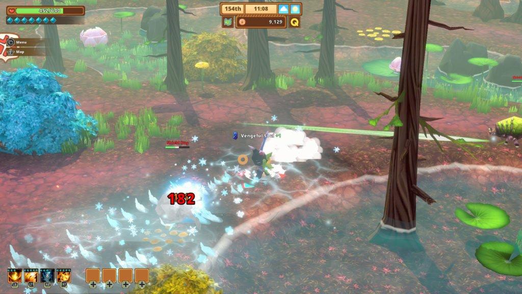 Kitaria Fables combat screenshot
