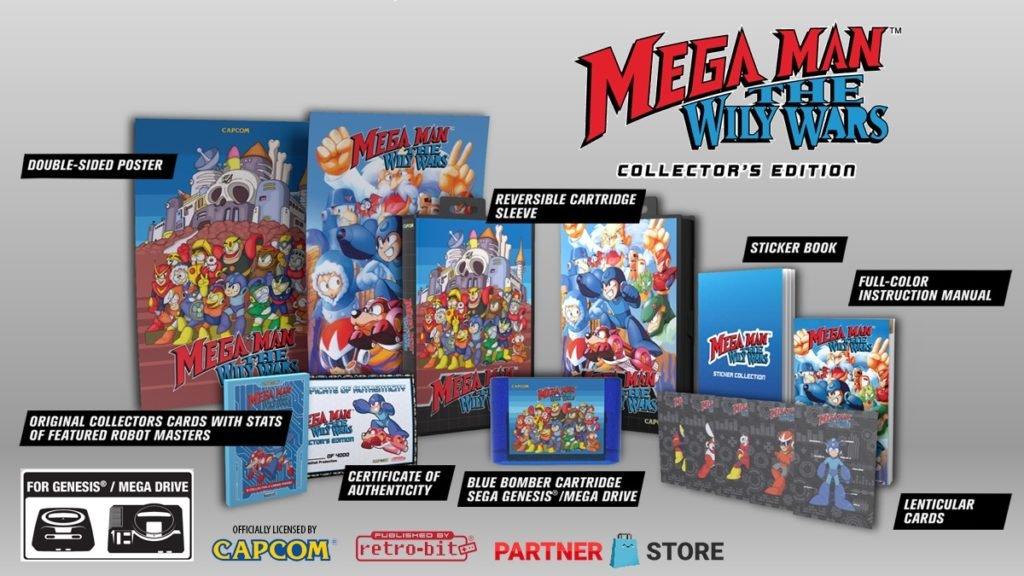 Mega Man The Wily Wars Collector's Edition contents