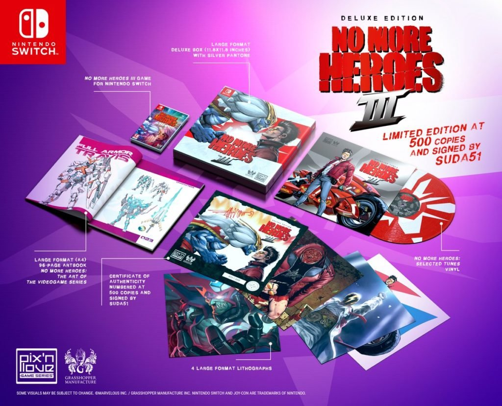 No More Heroes III Deluxe Edition full contents