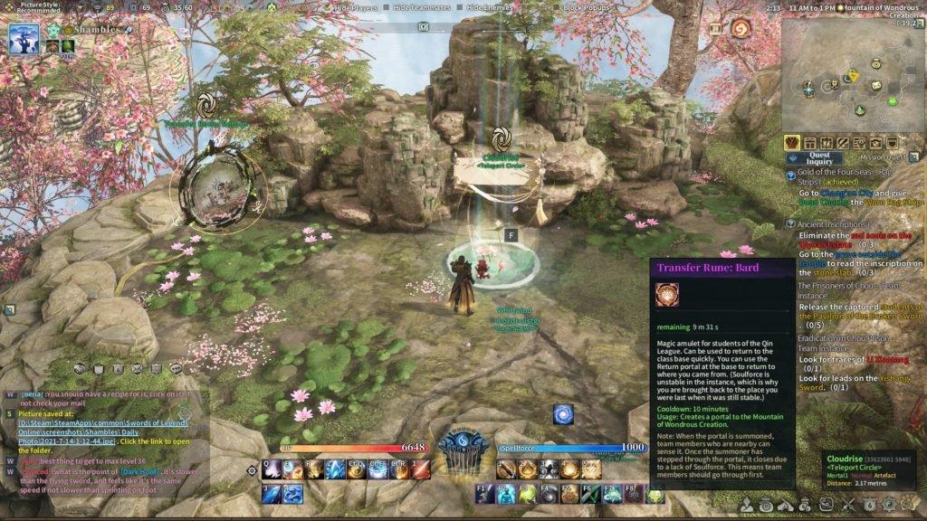 Swords of Legends Online class area