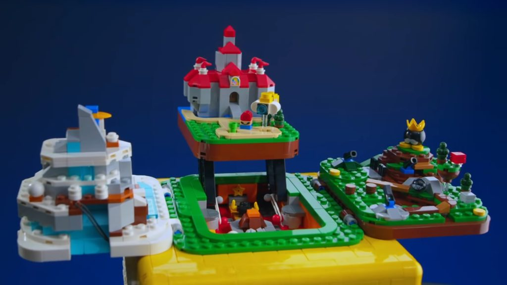 Super Mario 64 Question Mark Block Lego set inside